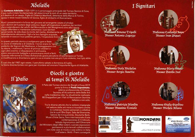 Brochure Torneo Storico di Susa 2019 - 2