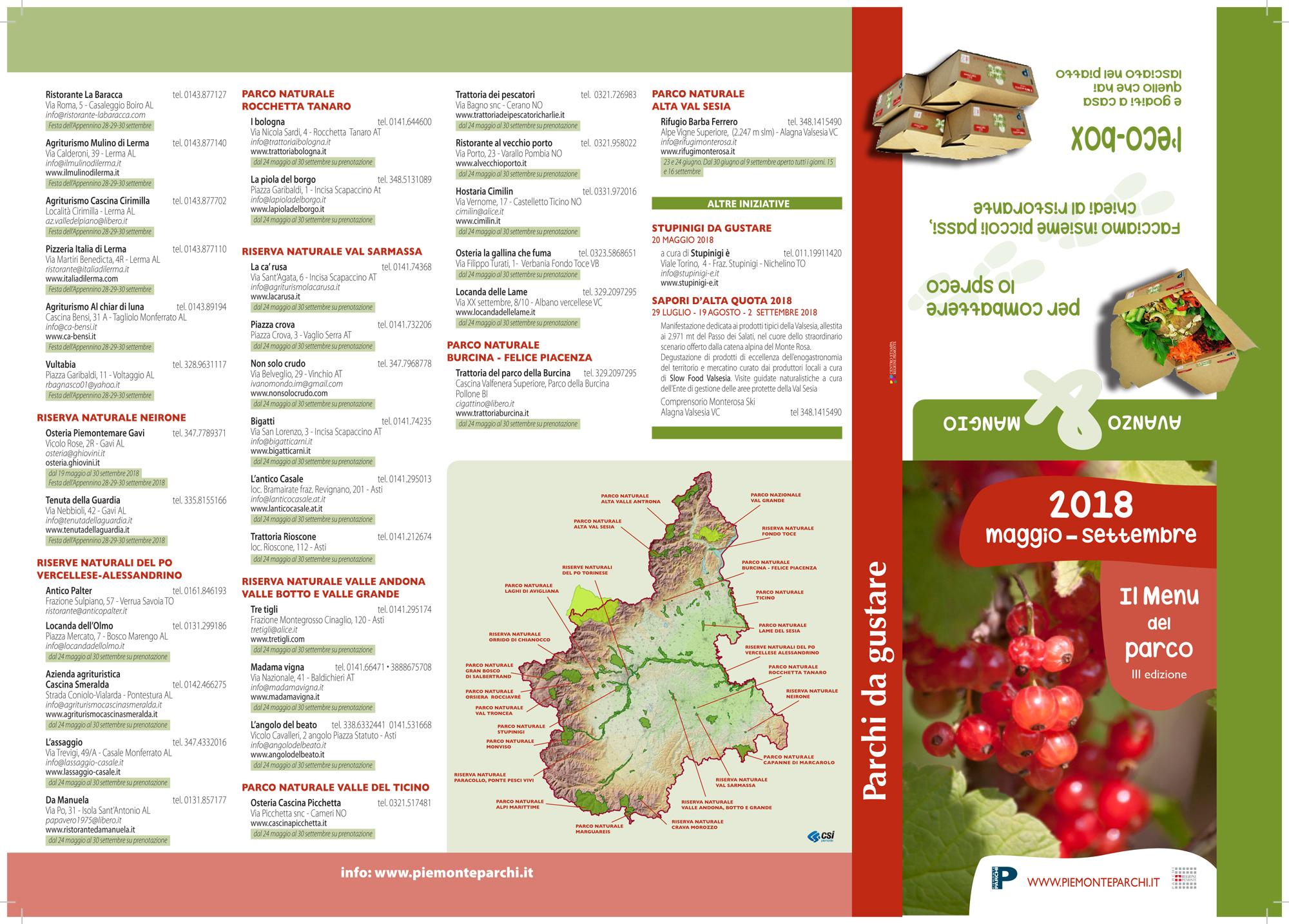 Prodotti e ricette tradizionali con Il Menu del parco