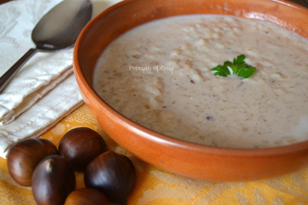 Marroni, riso e latte. Il primo piatto che sa di Valsusa