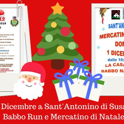 1 Dicembre a Sant'Antonino di Susa: Babbo Run e Mercatino di Natale