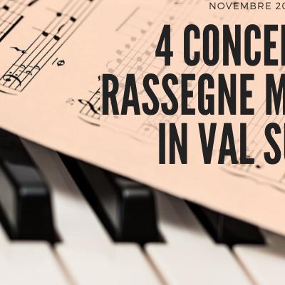 4 concerti e rassegne musicali in Val Susa a Novembre