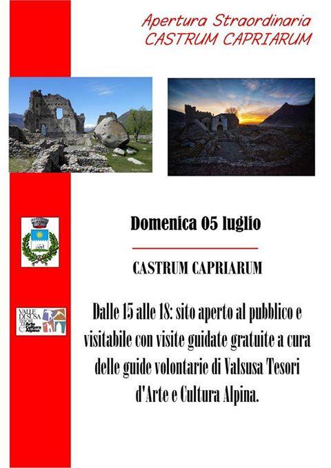 Apertura estiva luglio del Castrum Capriarum, Castello del Conte Verde di Condove