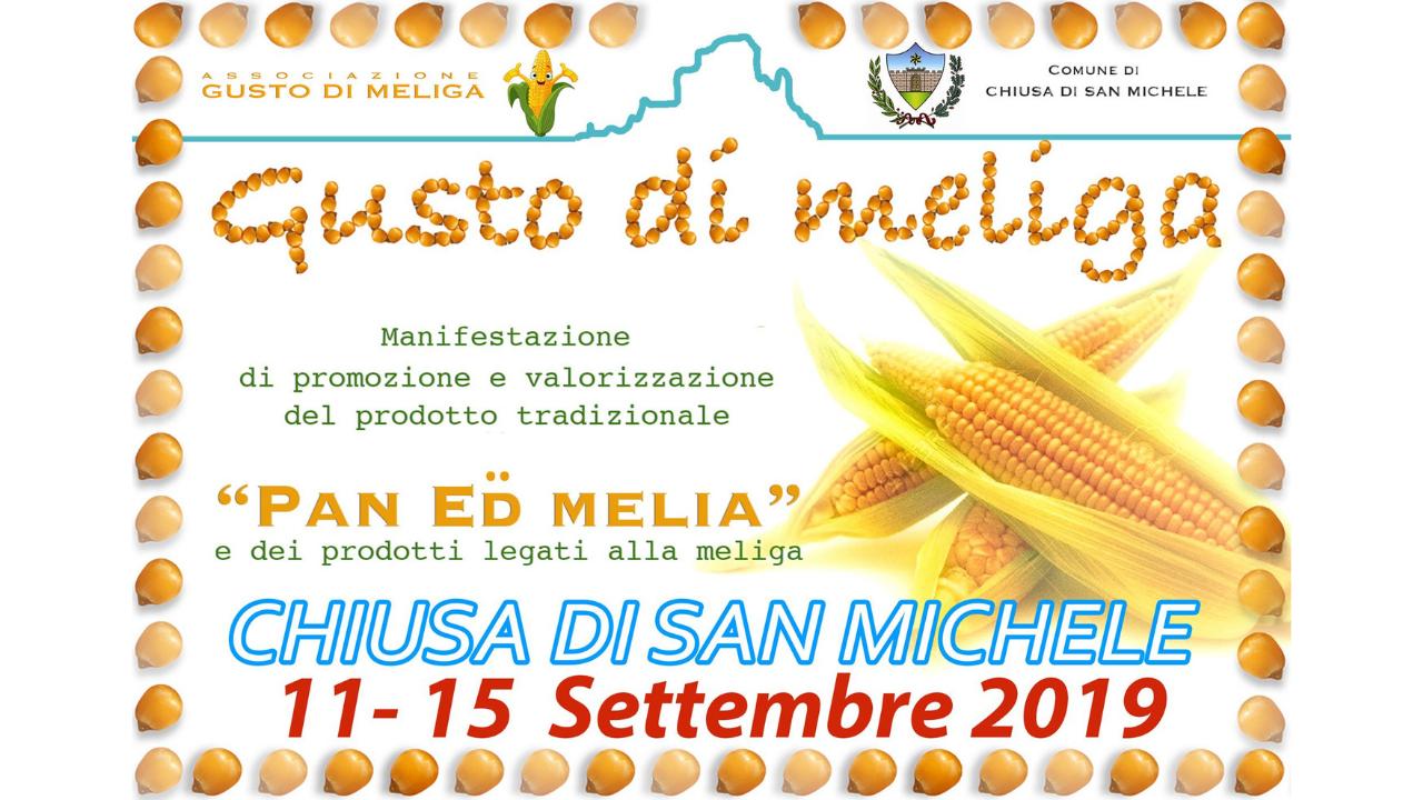 Gusto di Meliga a Chiusa di San Michele 11 – 15 Settembre 2019