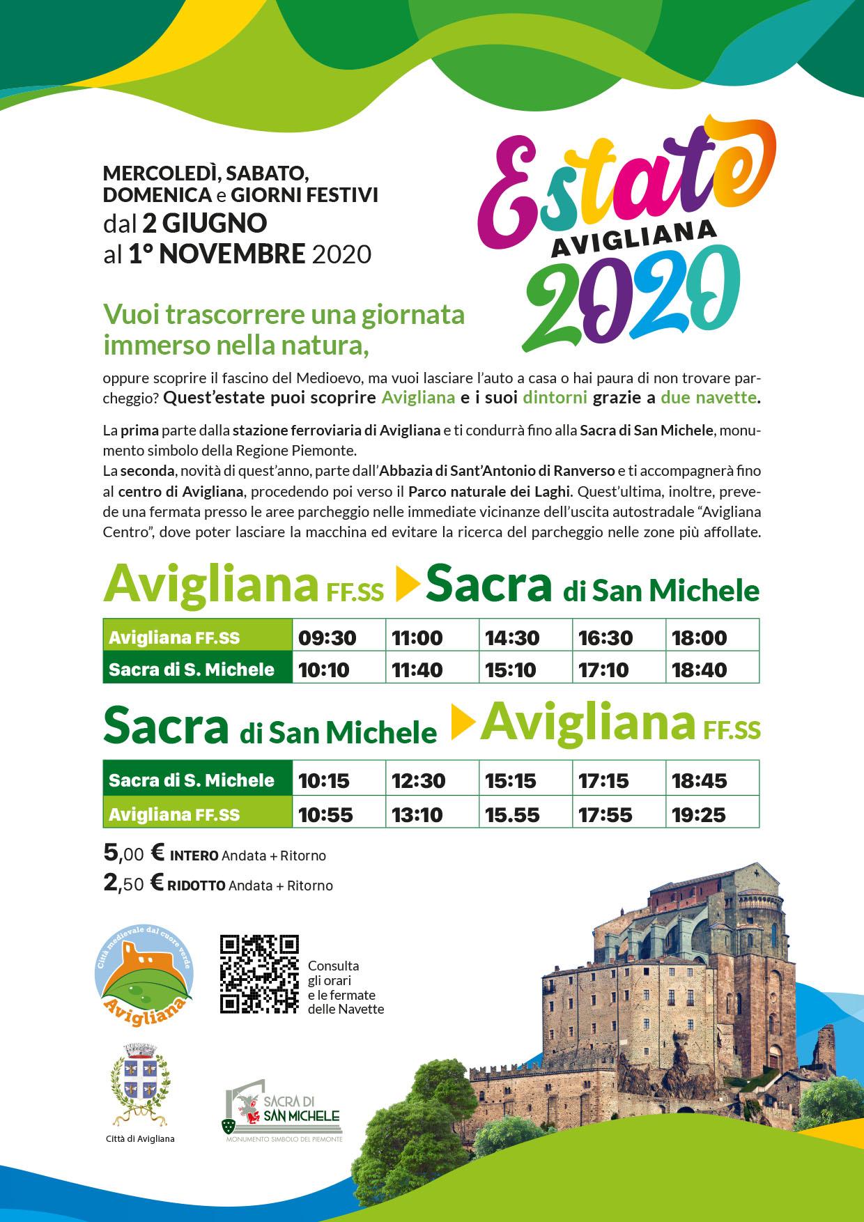 Navetta_Avigliana-Sacra-san-michele-estate-2020
