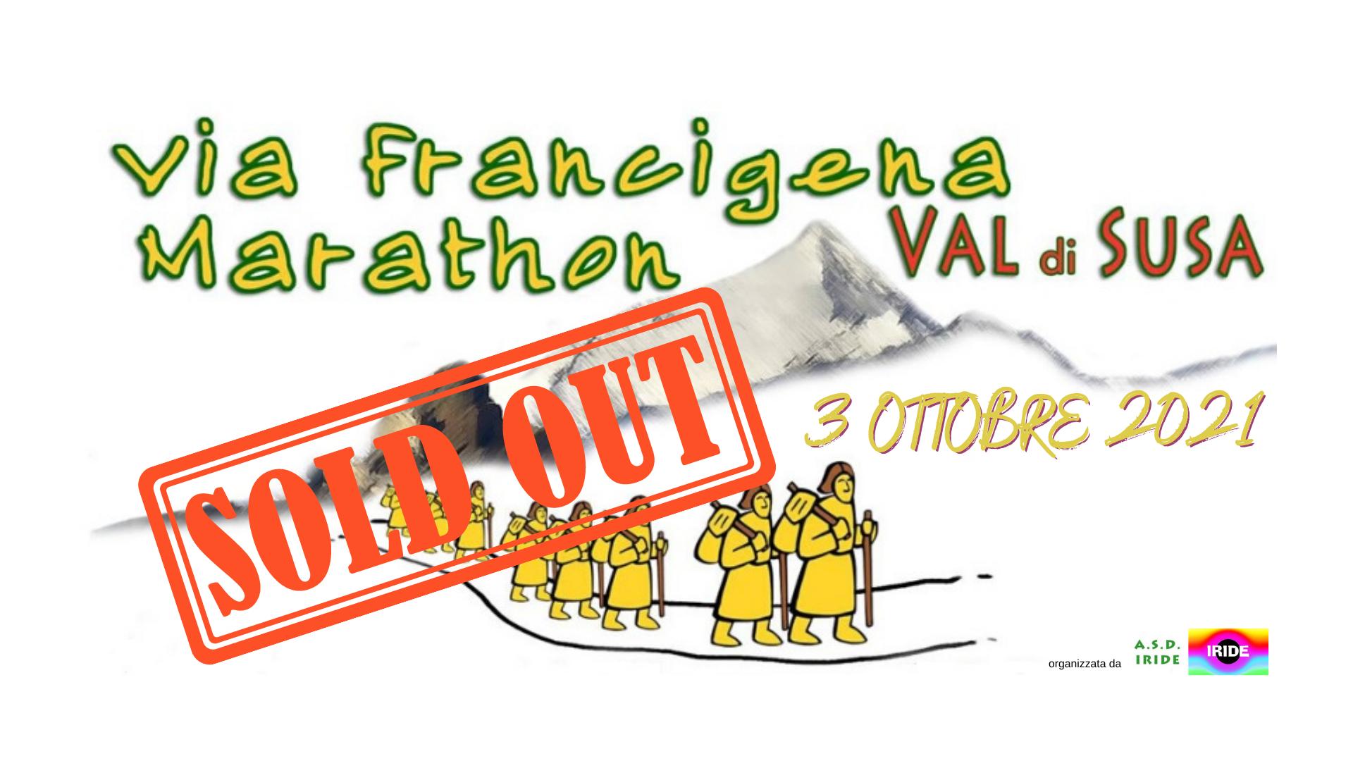 Via Francigena Marathon Val di Susa spostata al 03 Ottobre 2021
