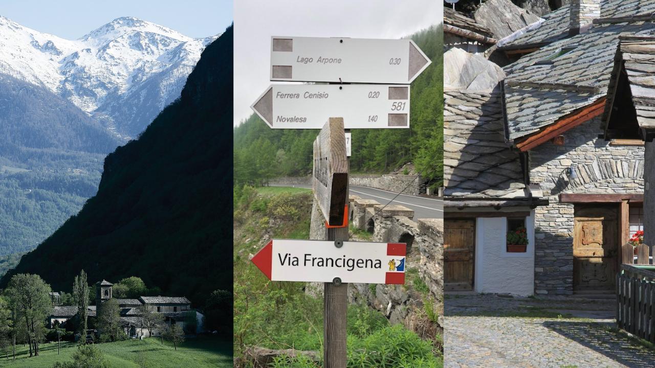 Via Francigena dal Colle del Moncenisio a Ferrera e Novalesa