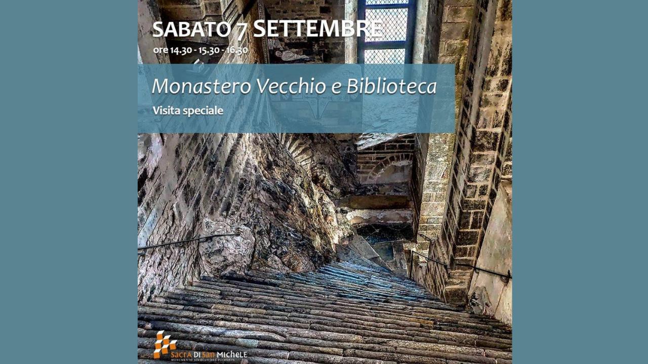 Speciale visita del Monastero Vecchio e Biblioteca della Sacra di San Michele