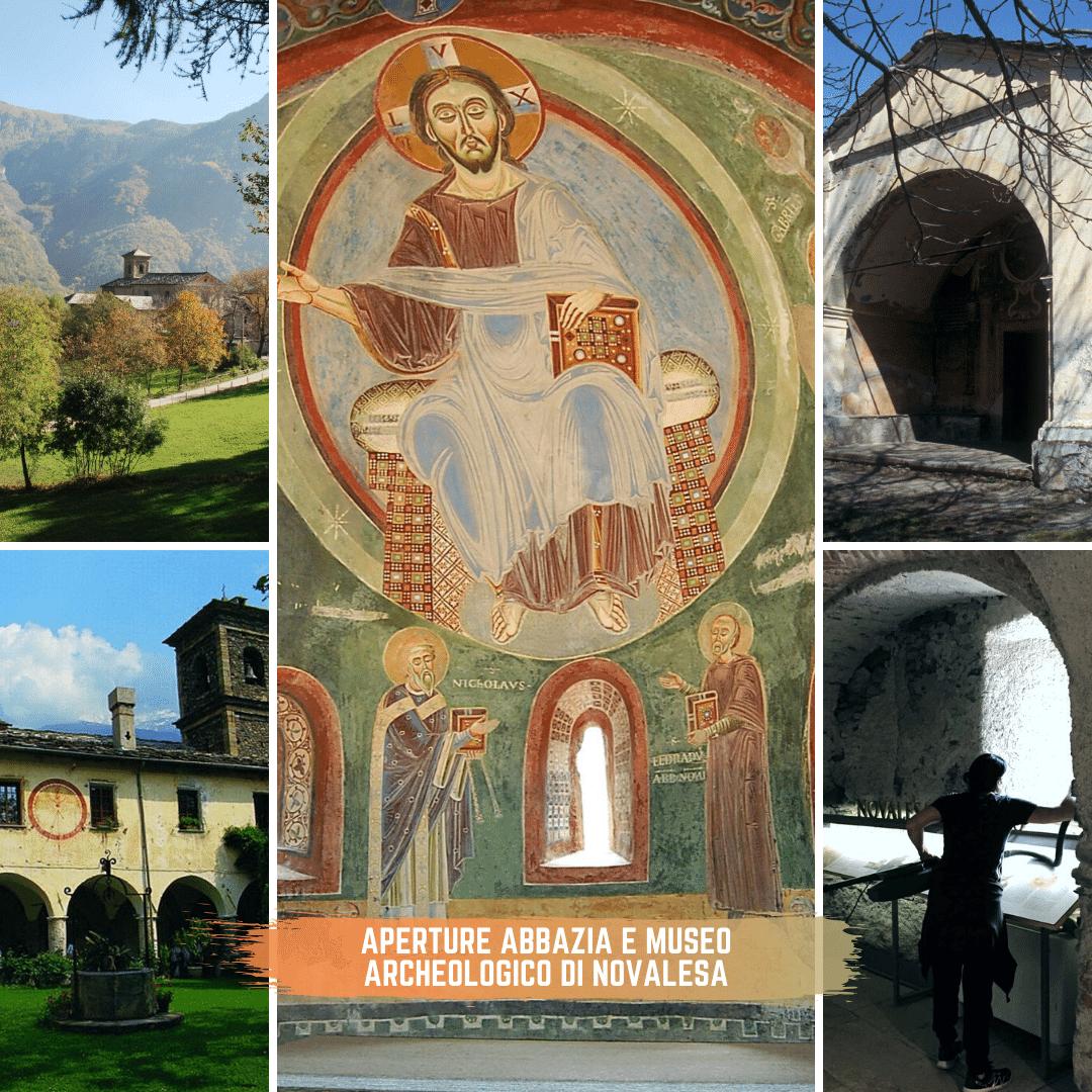 Aperture abbazia e Museo Archeologico di novalesa - Val Susa turismo