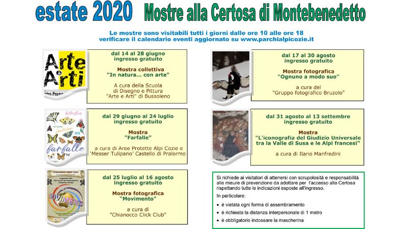 Certosa di Montebenedetto: apertura e mostre da giugno a settembre 2020