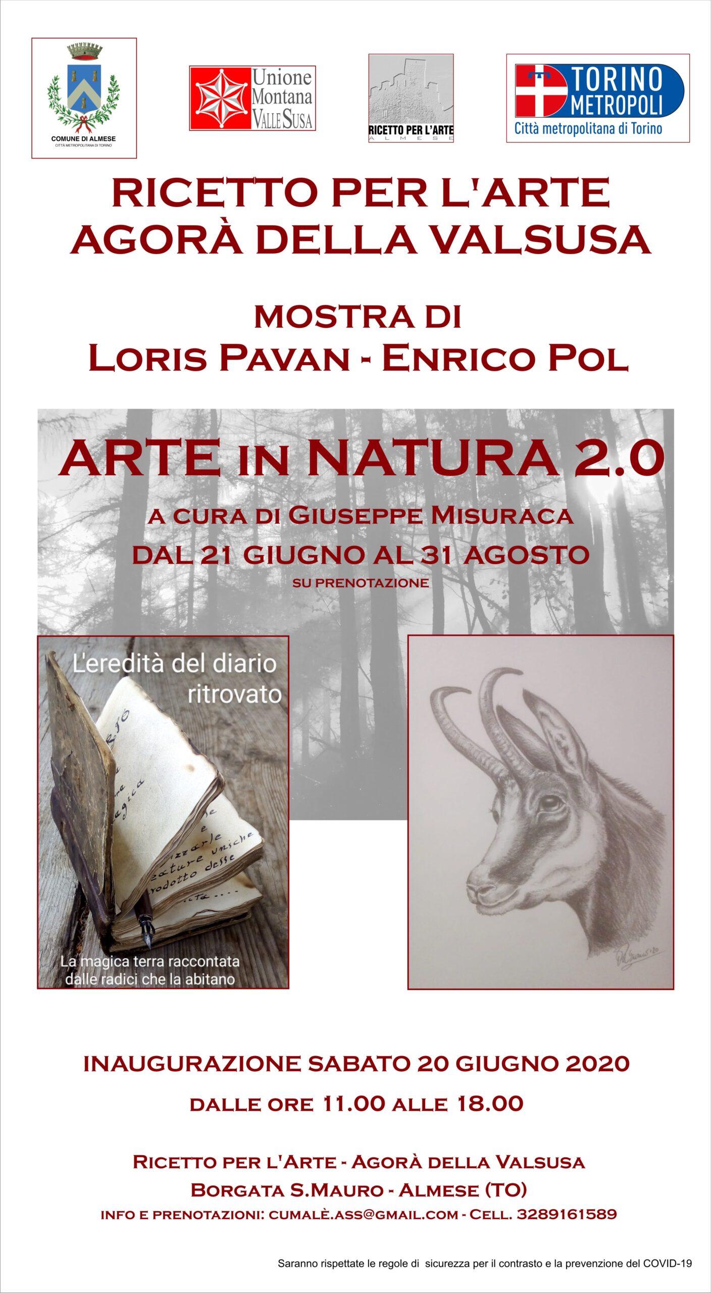 locandina ARTE in NATURA 2.0 ricetto di san mauro