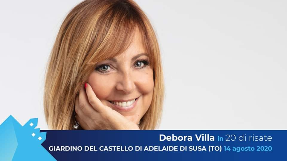 """Borgate dal vivo - Debora Villa in """"20 di risate"""" Castello Susa"""