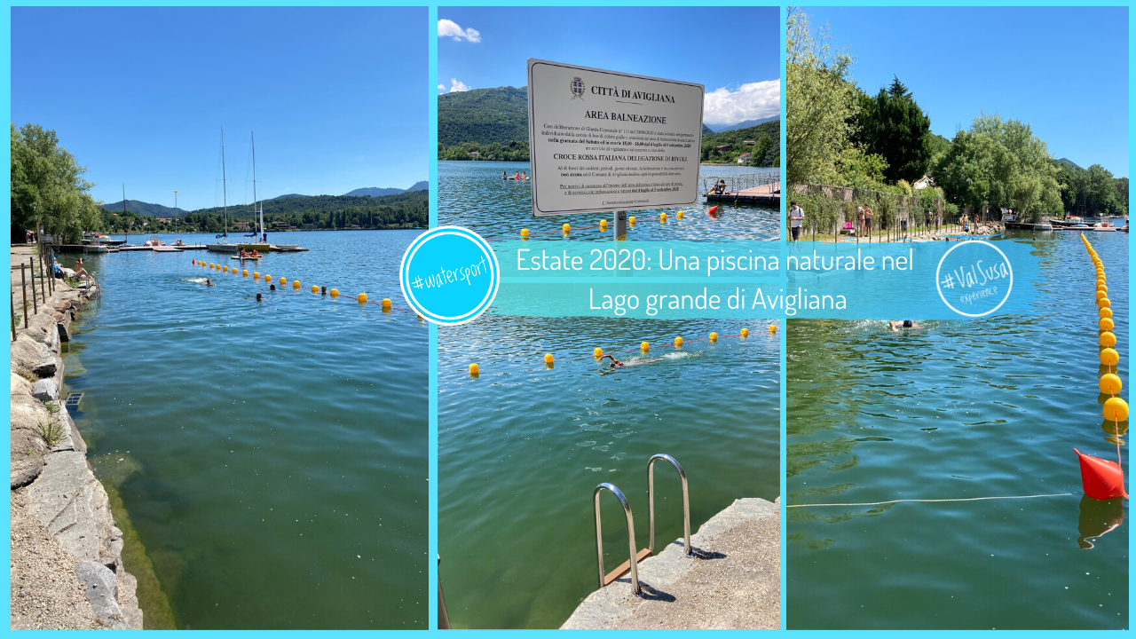 Estate 2020: Una piscina naturale nel Lago grande di Avigliana