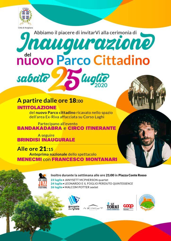 Inaugurazione del nuovo parco di Avigliana ex Area Riva