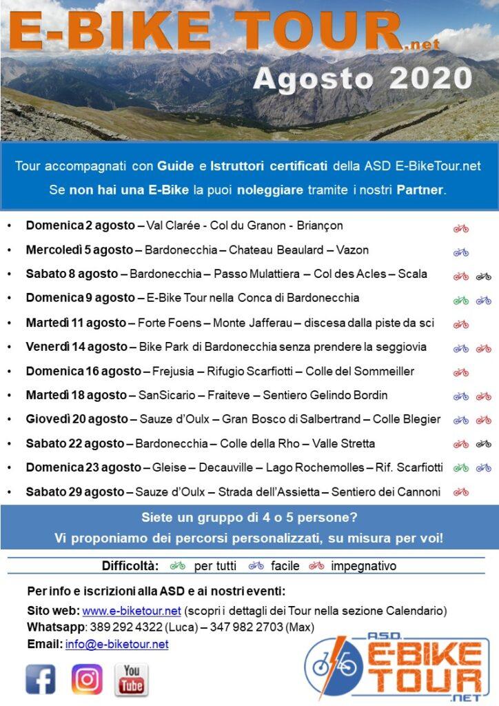 E-bike tour in Alta Val Susa Esatate 2020