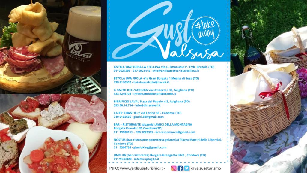 Gustovalsusa #takeaway - Val Susa Turismo