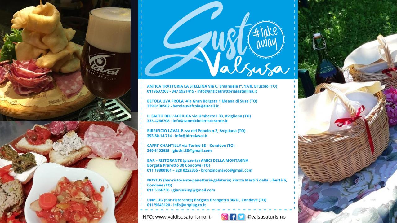 Il Gustovalsusa diventa #takeaway … Un'esperienza di gusto in Valle di Susa