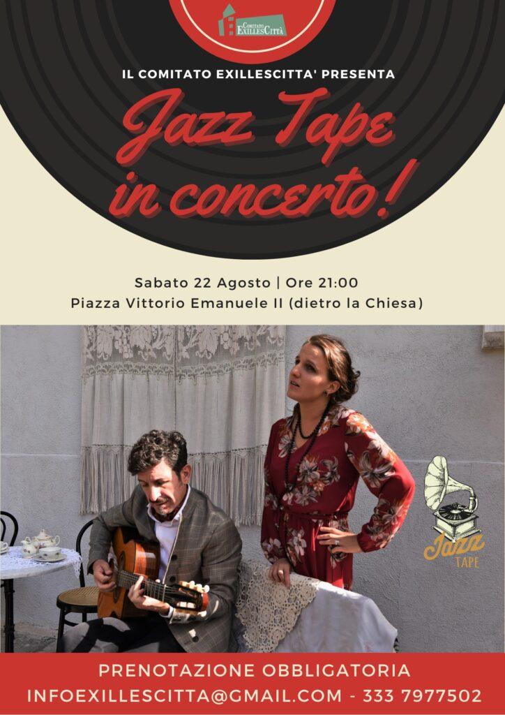 Jazz Tape in concerto 22 Agosto Exilles locandina