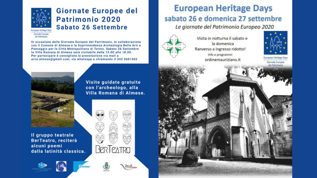 Giornate Europee del Patrimonio 2020 in Val Susa