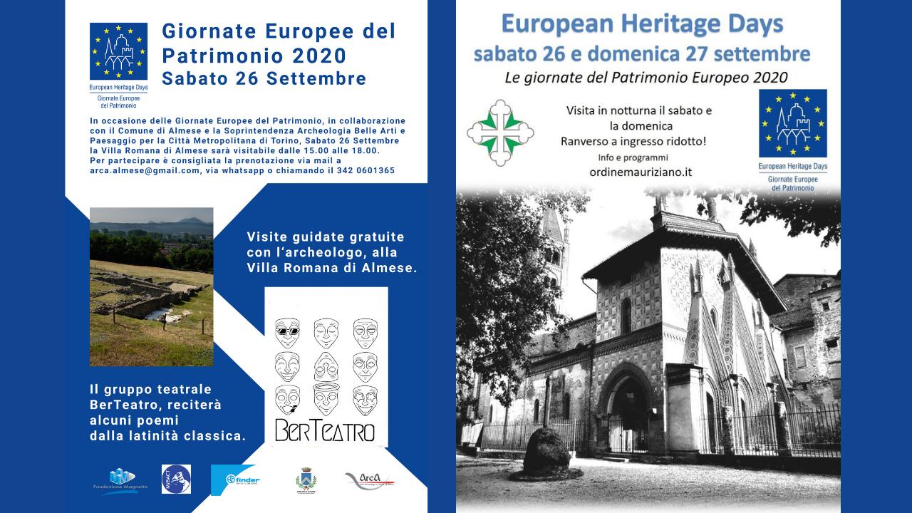 Le Giornate Europee del Patrimonio 2020 in Val Susa