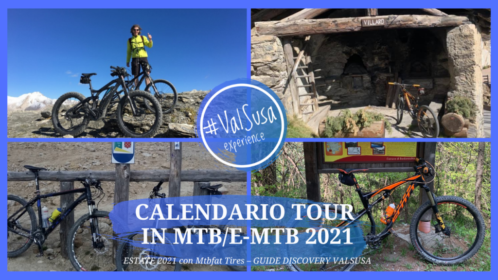 Calendario ESTATE 2021 Mtbfat Tires – GUIDE DISCOVERY VALSUSA ALTA VALLE Luglio e Agosto - Val Susa Turismo