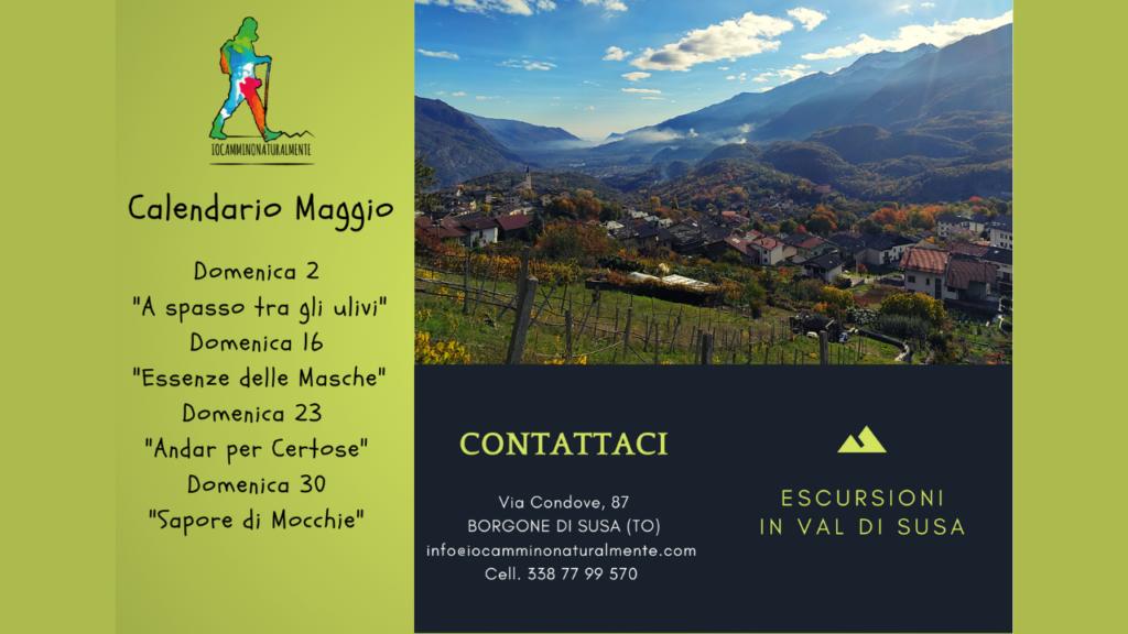 Calendario Maggio 2021 Trekking per adulti con Iocamminonaturalmente - Val Susa Turismo