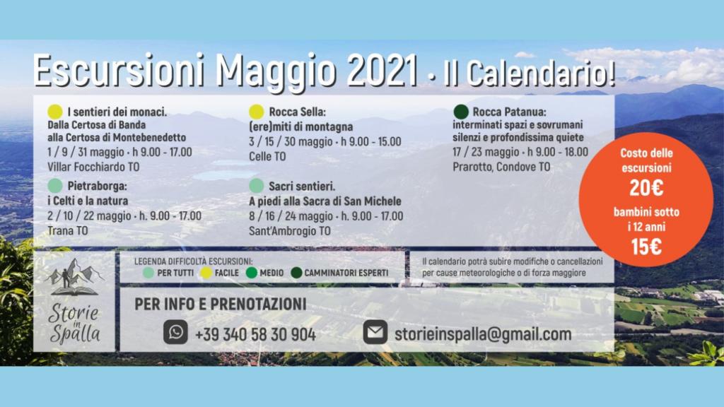 Escursioni con Storie in Spalla. Calendario Maggio 2021 - Val Susa Turismo (1)