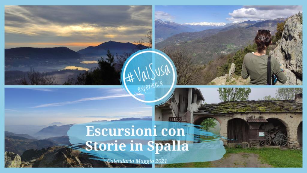 Escursioni con Storie in Spalla. Calendario Maggio 2021 - Val Susa Turismo