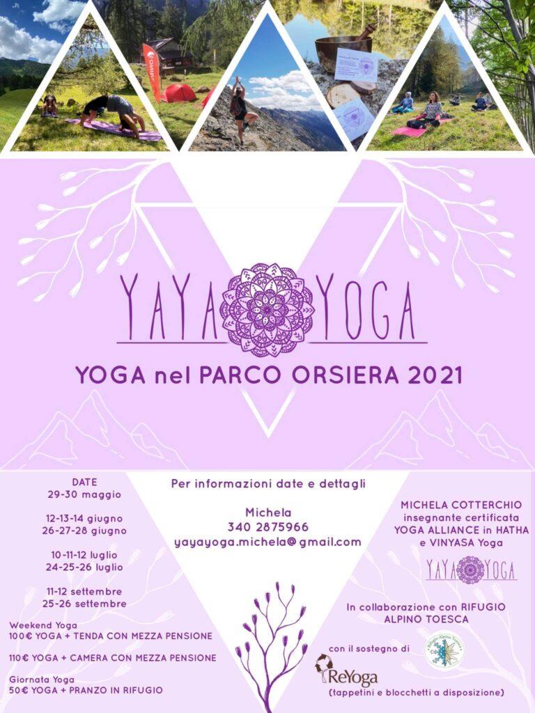 oga nel Parco Orsiera Rocciavrè Val Susa_ Rifugio Toesca Yaya yoga.locandina 1