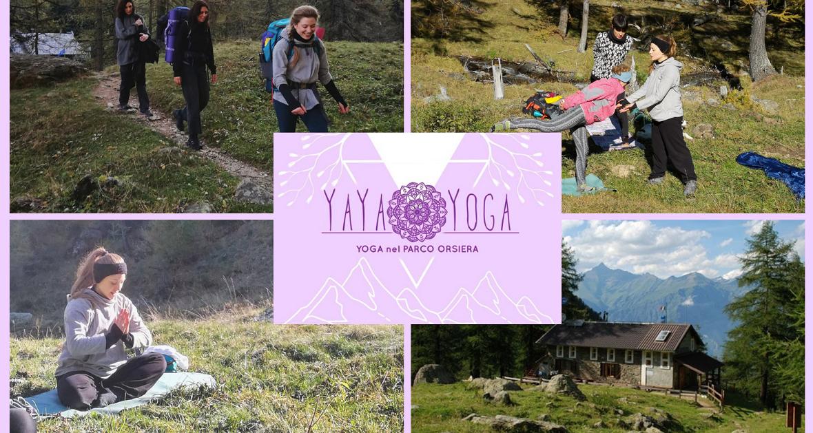 Yoga nel Parco Orsiera Rocciavrè Val Susa. Al Rifugio Toesca con Yaya yoga