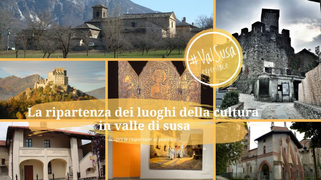 La ripartenza dei luoghi della cultura in valle di susa - Val Susa Turismo