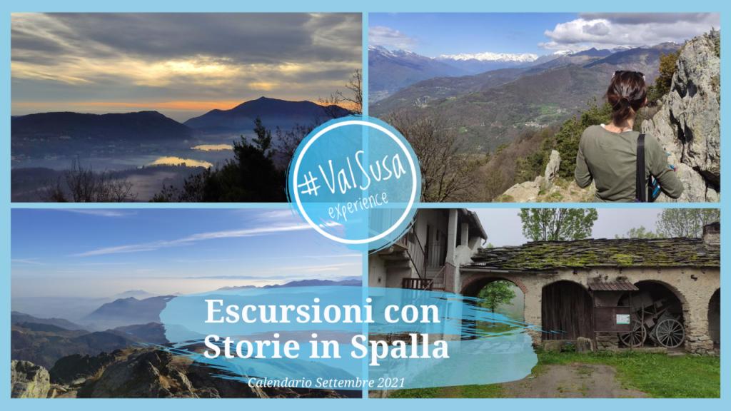 Escursioni con Storie in Spalla. Calendario Settembre 2021 - Val Susa Turismo