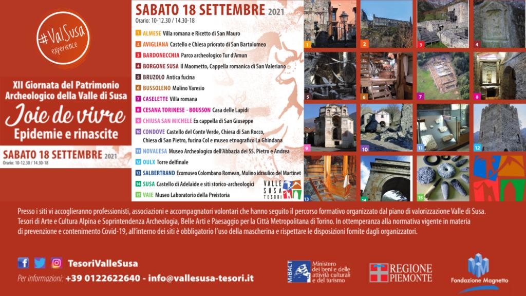 Giornata del Patrimonio Archeologico in Valle di Susa - 18 Settembre 2021 - Val Susa Turismo