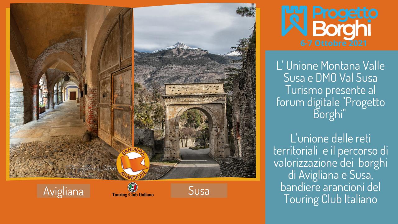Avigliana e Susa con la DMO Val Susa Turismo al Progetto Borghi